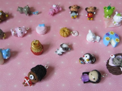 Polymer Clay Charm Update #10 - Kawaii Characters, Squishy Inspired Charms And More!