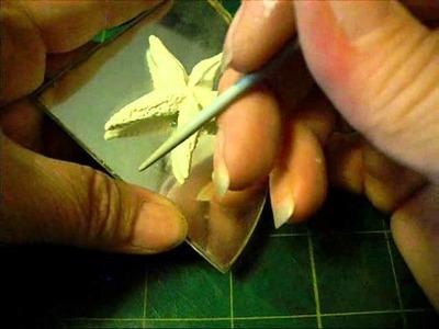Polymer clay starfish embellishments tutorial