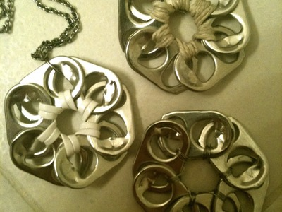 ❀Pop Tab Flower Pendant Tutorial by ambroset1990❀