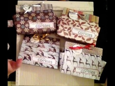 Quick and easy gift box made with 12 x 12 paper no cutting involved