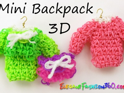 Rainbow Loom Backpack 3D (Sweater) Hook - Loom Bands How to Tutorial by Elegant Fashion 360