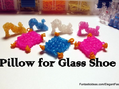 Rainbow Loom Pillow for Glass Shoe - How to