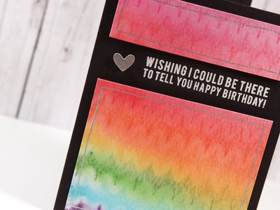 Rainbow Watercolor Card - Make a Card Monday #238