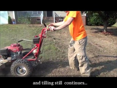 Residential lawn renovation and hydroseeding.wmv