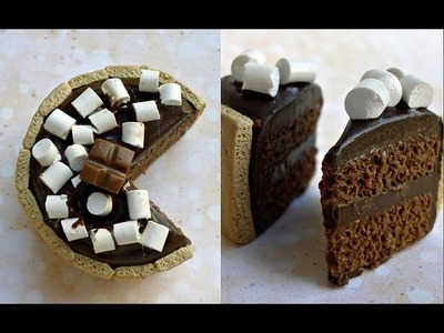 S'MORES CAKE - Polymer Clay Tutorial