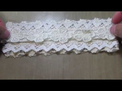 Shabby Chic Lace.Cuff bracelet Tutorial!!
