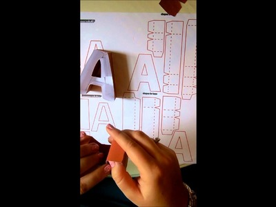 SnapDragon Snippets 3d letter a box Tutorial for Silhouette Cameo