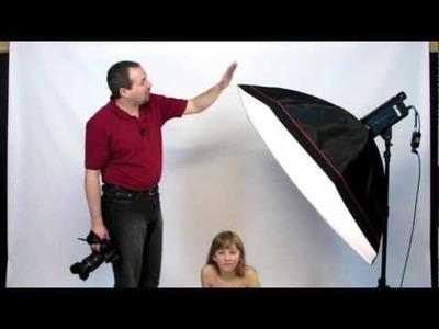Studio Flash Lighting Portrait photography Large Softbox tutorial