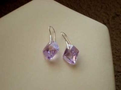 Swarovski crystal violet cosmic earrings