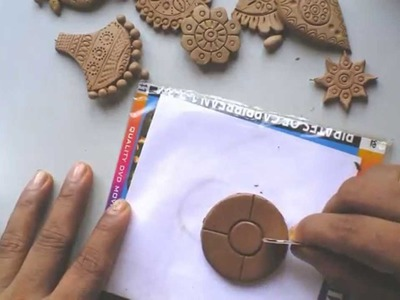 Terracotta.clay jewellery making tutorial: how to make a simple flower pendant