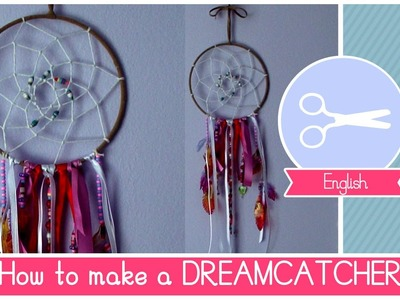 Tutorial How to make a DIY Dreamcatcher with recycled materials by Fantasvale