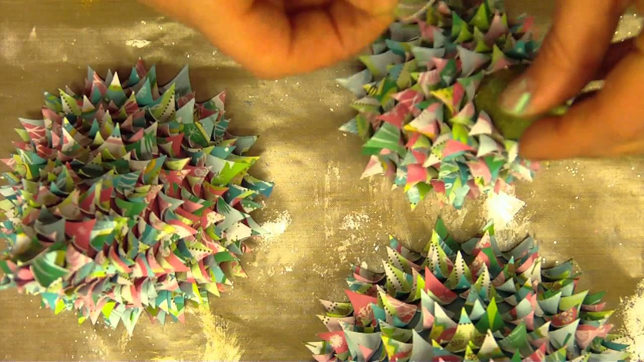 3D Cone  Paper Christmas Trees.MP4