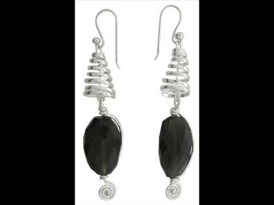 All handmade 925 sterling silver unique and exotic design earrings from india