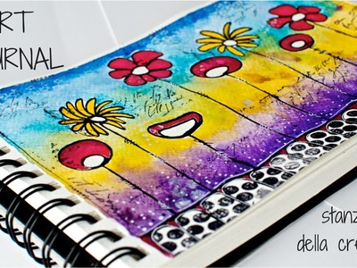 Art Journal page #2 - Fabriano watercolor paper