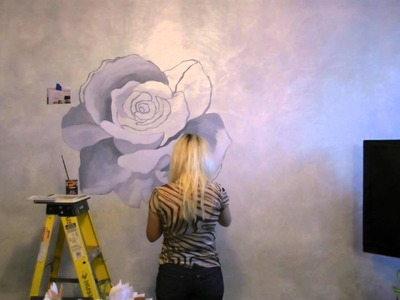 Artinhome.us Art in Home Artistic Desoration on Wall Paint ROSE