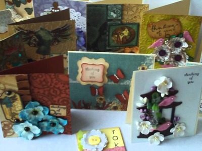 Cards from Scraps On My Desk