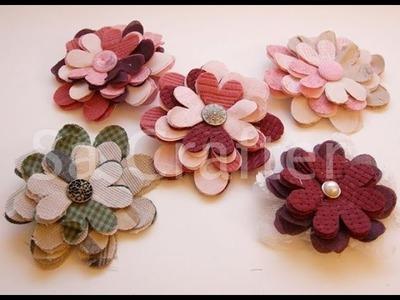 Fabric flower folds bigz die tutorial
