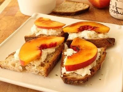 Food Wishes Recipes - Peach Brulee Burrata Bruschetta Recipe - Peach Burrata Bruschetta