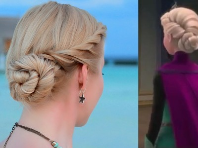 Frozen's Elsa hair tutorial. Updo hairstyle for prom.wedding.party