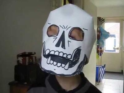 Home Made Halloween Skull Mask (skill level: easy) HAPPY HALLOWEEN