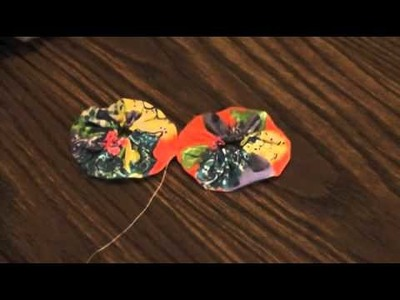 How to attach fabric yo-yos!