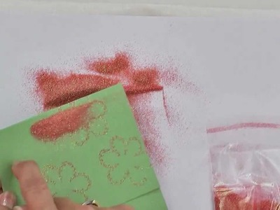 How to Create Glittered Stamped Images for Card-Making Projects