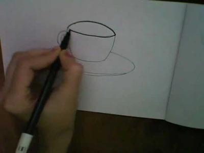 How to draw Cartoon Tea Cup Saucer