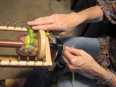 How to hand spin coiled yarn on a spinning wheel  from a thick and thin yarn - Part II