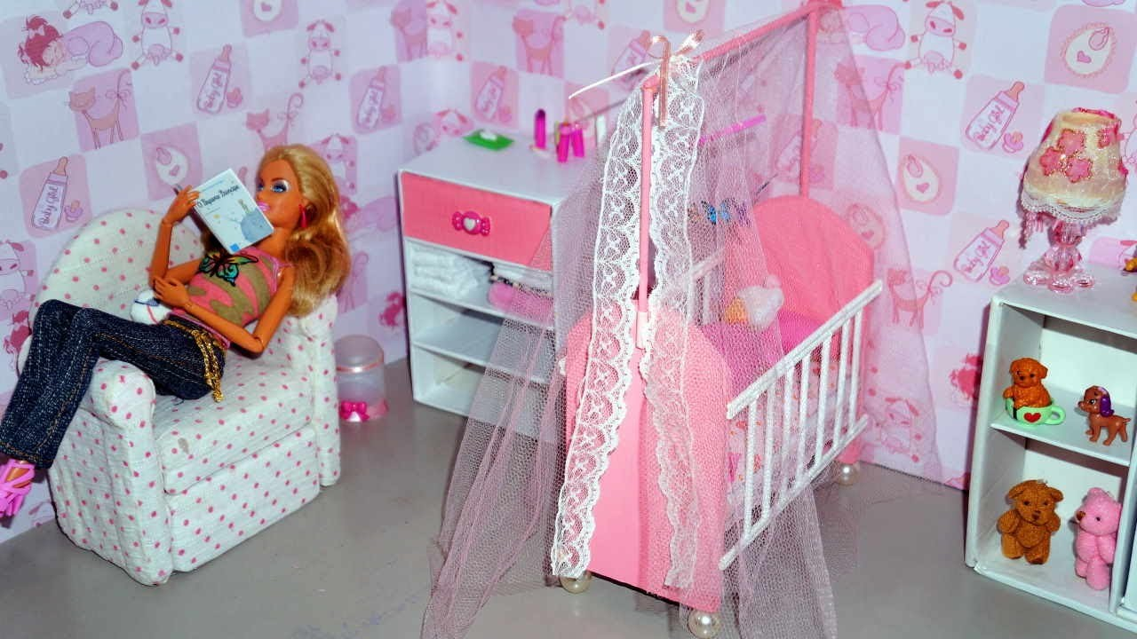 How to make a baby crib. cot (part 1) for doll (Monster High, Barbie, etc)