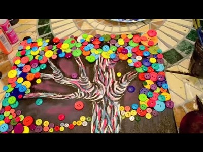 How to Make a BUTTON TREE Painting - @DramaticParrot