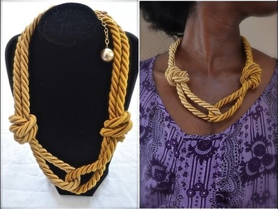 How to make a rope necklace |  Nik Scott