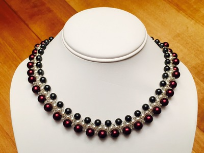 How to make a three layer pearl necklace