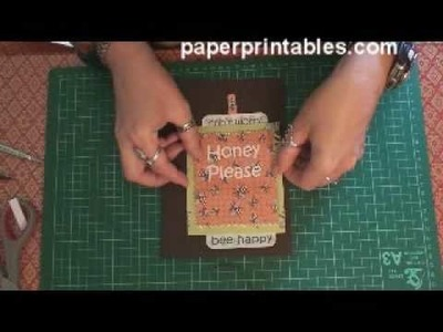 How to make a two way slider card from grocery bag tutorial