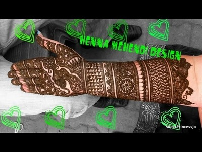 How to make HENNA Indian Pakistani Henna Design Full hand