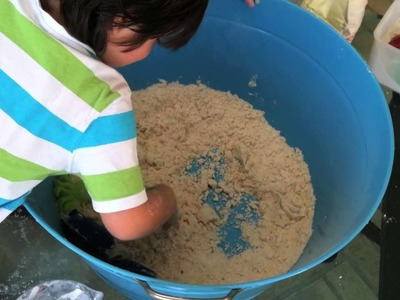 How to Make Moon Sand!  Fun, Easy, Sensory Activity for Your Preschooler!