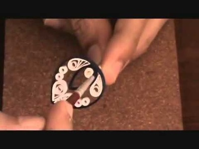 -How-to make paper quilling jewellery earrigs for beginers and professionals.PART - 2 (varnishing)-‏ - YouTube