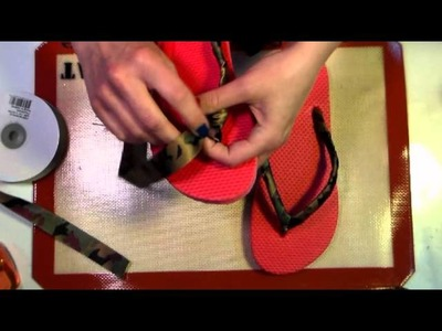 How to Make Your Own Ribbon Flip Flops