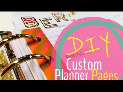 How to Personalize Your Planner Pages
