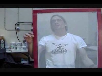 How To Screen Print: Glitter Ink On Black Tee Shirts