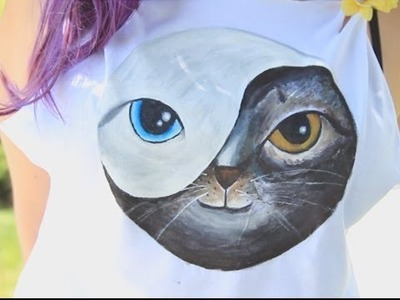 Kitty Yin Yang Shirt ♥ DIY