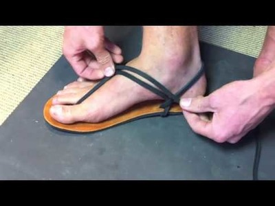 Luna Sandals Slip-On Tying Method #1 - long