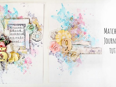★ Matching Art Journal Pages Tutorial ★