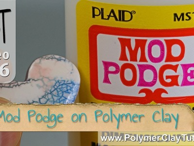 Mod Podge Dimensional Magic on Polymer Clay