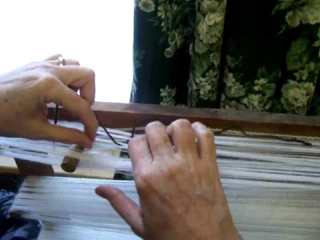 Nancy Today: (Warp 3) How to tie groups of warp threads on the warp mill (weaving 3) ASMR weaving