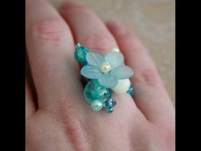 Original Design Flower Bouquet Rings @ Etsy