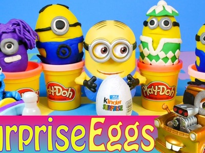 Play Doh Kinder Surprise Eggs Despicable Me Minions Toys Cookie Monster Cars 2 Mater Disney