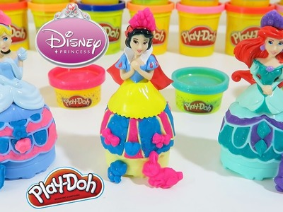 Play Doh Sparkle Disney Princess Mix n Match Playset Cinderella The Little Mermaid Ariel Snow White!