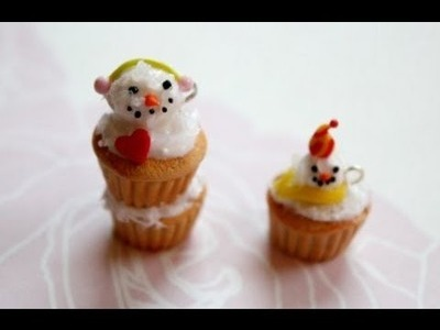 ☃ Polymer Clay Snowmen Cupcakes ☃