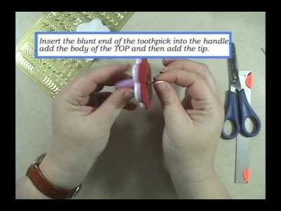 Polymer clay tutorial - Spinning top. Dreidel