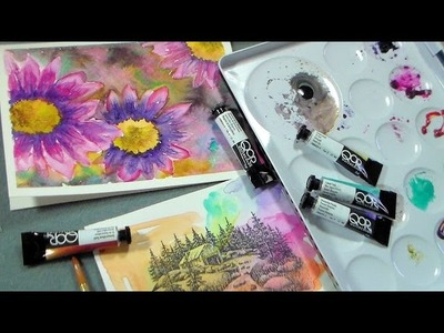 Qor watercolor review and demo {daisy tutorial}